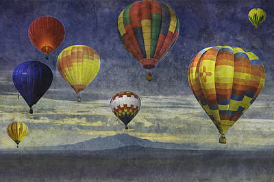 Balloons Over Sister Mountains Poster