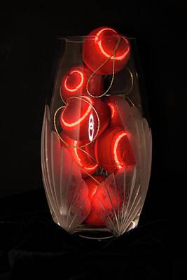 Balls In Crystal Vase Poster