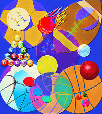 Balls - Sports, Toys And Fun Poster by Steve Ohlsen