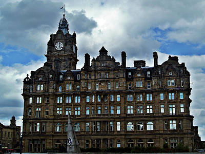 Balmoral Hotel Edinburgh Scotland. Poster by Amanda Finan