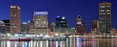Baltimore Maryland City Panorama Poster by Frozen in Time Fine Art Photography