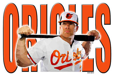 Poster featuring the digital art Baltimore Orioles by Stephen Younts