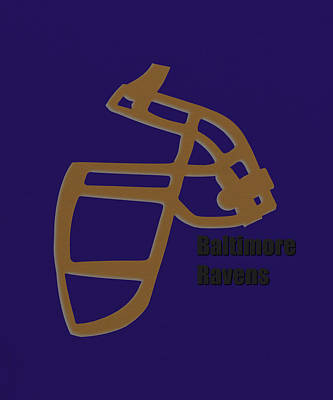 Baltimore Ravens Retro Poster by Joe Hamilton