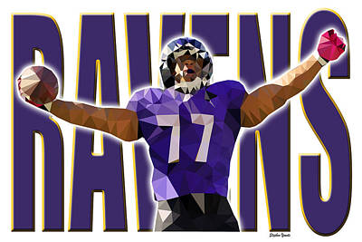 Poster featuring the digital art Baltimore Ravens by Stephen Younts