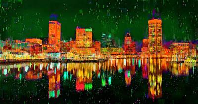 Baltimore Skyline 102 - Da Poster