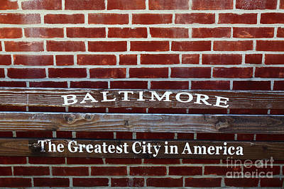 Baltimore The Greatest City In America Poster