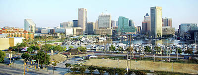 Poster featuring the photograph Baltimore's Inner Harbor by Brian Wallace