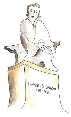 Balzac Poster by Anna Elkins