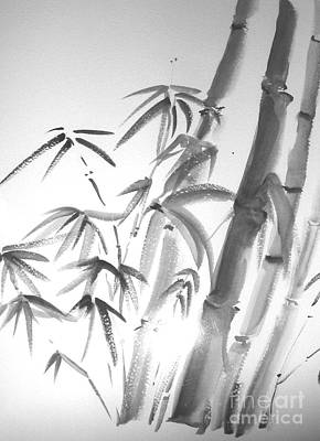 Poster featuring the painting Bamboo 2 by Sibby S