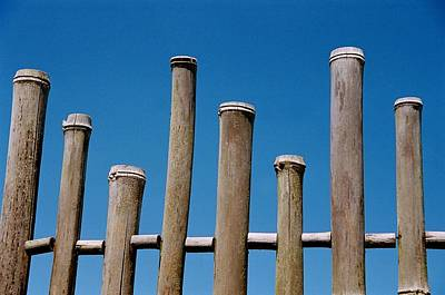 Bamboo Fence Poster by Spirit Vision Photography