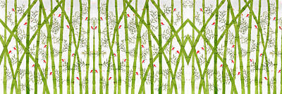 Bamboo Forest Poster by Sumit Mehndiratta