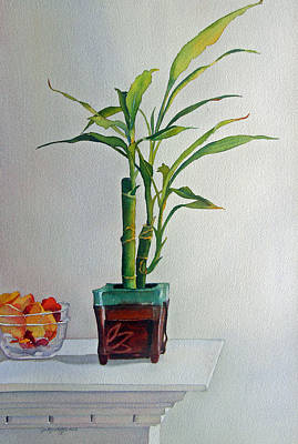 Poster featuring the painting Bamboo by Judy Mercer