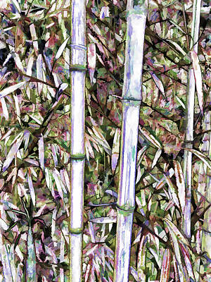 Bamboo Stalks Poster by Lanjee Chee