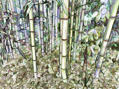 Bamboo Tree Poster by Lanjee Chee