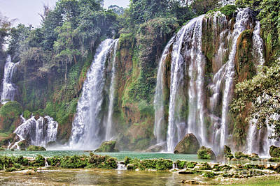 Ban Gioc Waterfall Vietnam II Poster by Chuck Kuhn