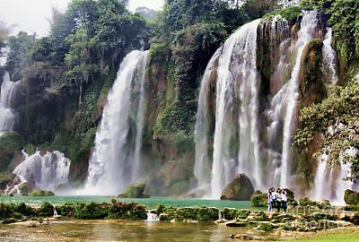 Ban Gioc Waterfalls Vietnam  Poster by Chuck Kuhn