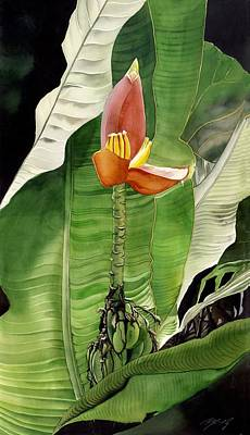 Poster featuring the painting Banana Blossom by Alfred Ng