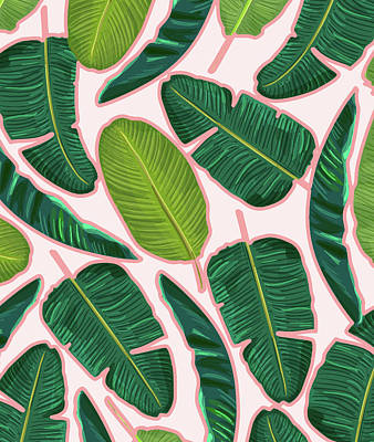 Banana Leaf Blush Poster