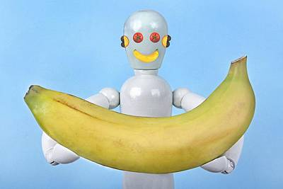 Banana Poster by Manfred Lutzius