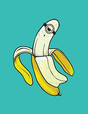 Banana Minion Ghost Poster by Illustratorial Pulse