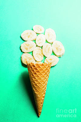 Bananas Over Sorbet Poster by Jorgo Photography - Wall Art Gallery