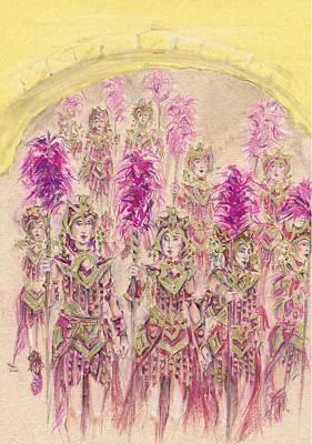 Band Of Warriors Or Banda De Guerreras Poster by Jill Bennett