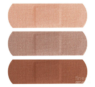 Bandages In Different Skin Colors Poster by Blink Images