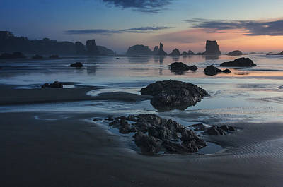 Bandon Beach Sunset Poster