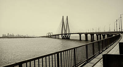Bandra Worli Sea Link Poster by For me, photographs are a great medium to tell a story. Whe