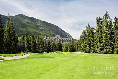 Banff Springs Golf And The Castle Poster