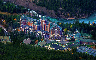 Poster featuring the photograph Banff Springs Hotel by John Poon