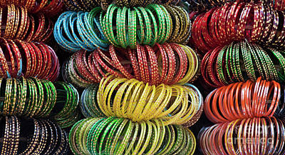 Poster featuring the photograph Bangles Of India by Tim Gainey