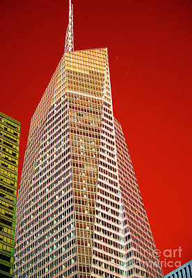 Bank Of America Tower Pop Art Poster by John Rizzuto