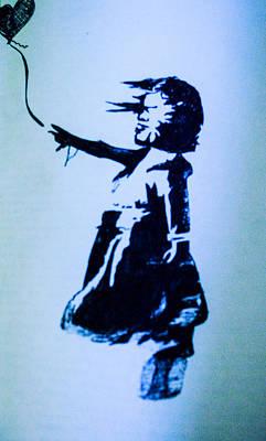 Banksy's Girl Poster by Margo Kurtzke