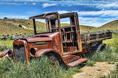 Bannack Trucking Poster by Steven Bateson