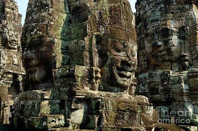 Angkor Wat Banyon Cambodia Poster by Bob Christopher