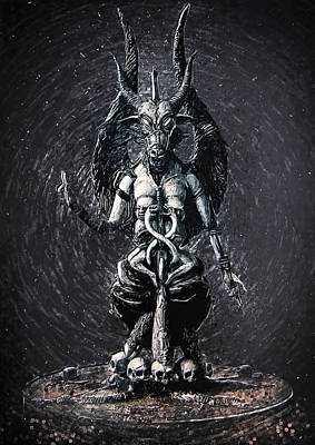 Baphomet Poster by Taylan Apukovska