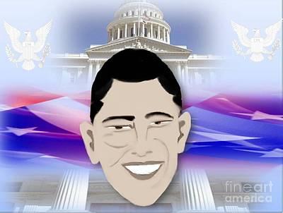 Barack Obama First African American President Poster by Belinda Threeths