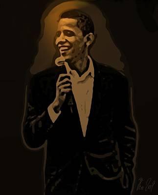 Barack Obama Poster by Helmut Rottler