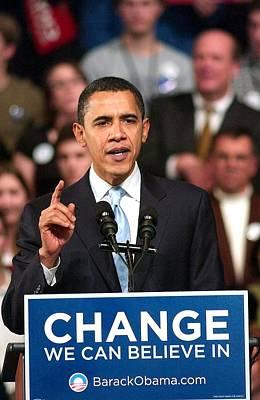 Barack Obama On Stage For Barack Obama Poster