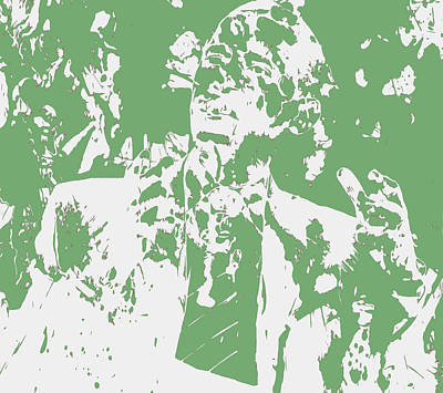 Barack Obama Paint Splatter 4c Poster