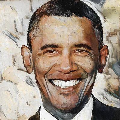 Barack Obama Portrait 1 Poster