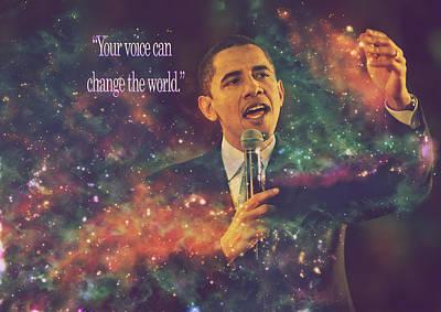 Barack Obama Quote Digital Artwork Poster by Georgeta Blanaru