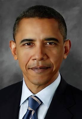 Barack Obhama Poster by Mark Higgins