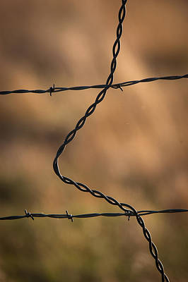 Barbed And Bent Fence Poster by Monte Stevens