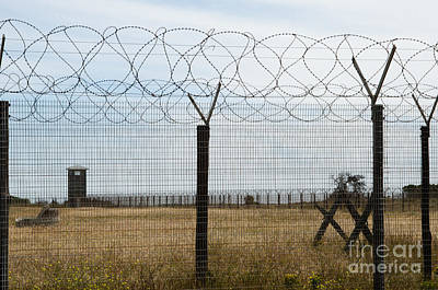 Barbed Wire Fence At Robben Island Poster by Rex Wholster