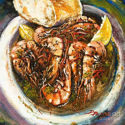 Barbequed Shrimp Poster by Dianne Parks