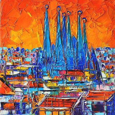 Barcelona Abstract Cityscape 7 - Sagrada Familia Poster