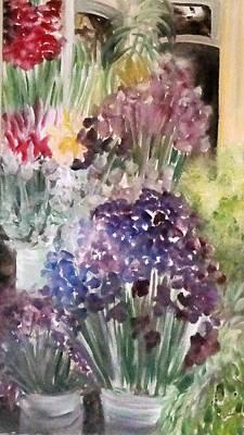 Barcelona Flower Mart Poster