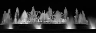 Barcelona Fountain Nightlights Poster